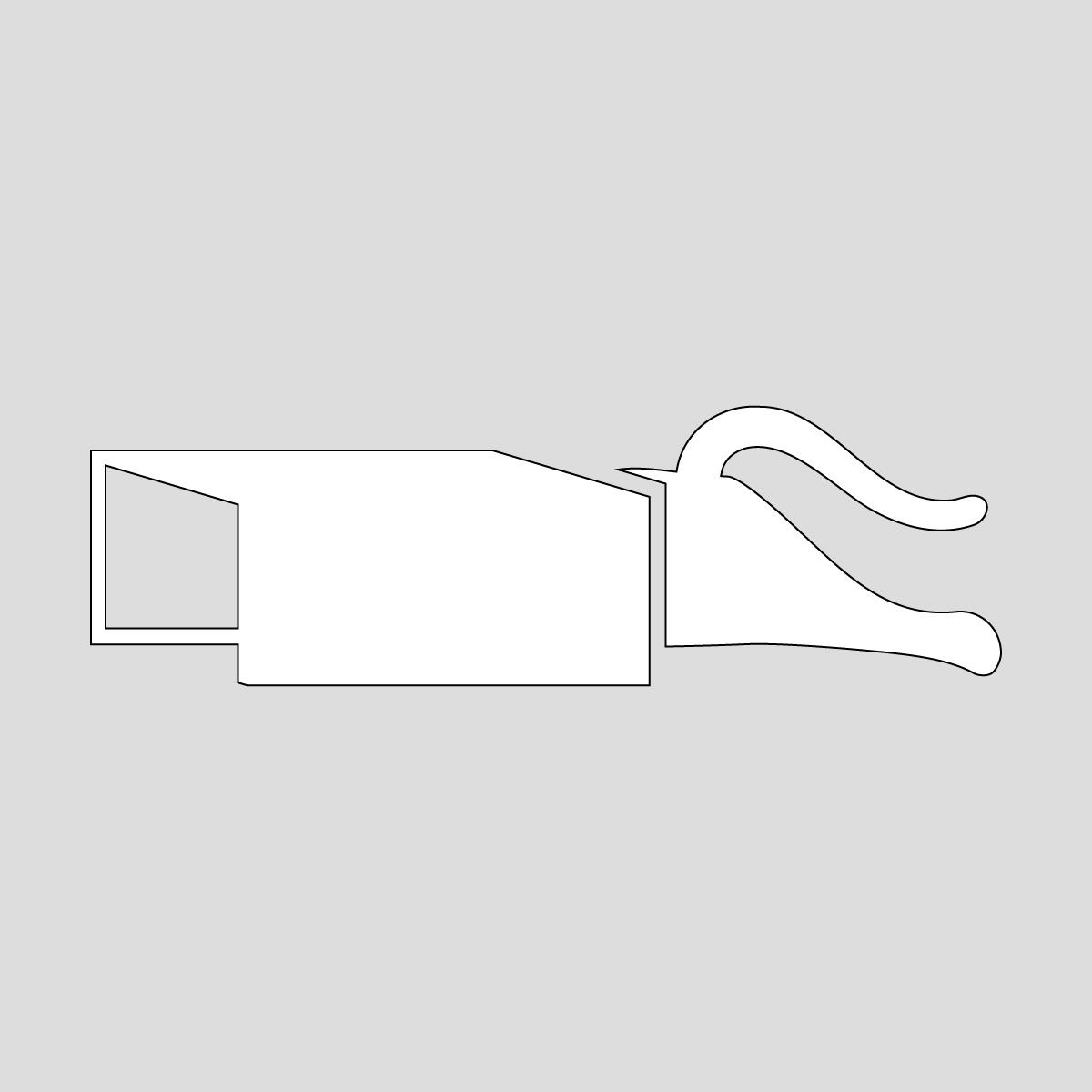 白色の猫の箱に飛び込むシルエット ネコ ねこ キャットポーズ ステッカー・シール
