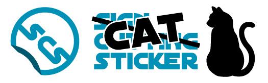 猫ステッカー